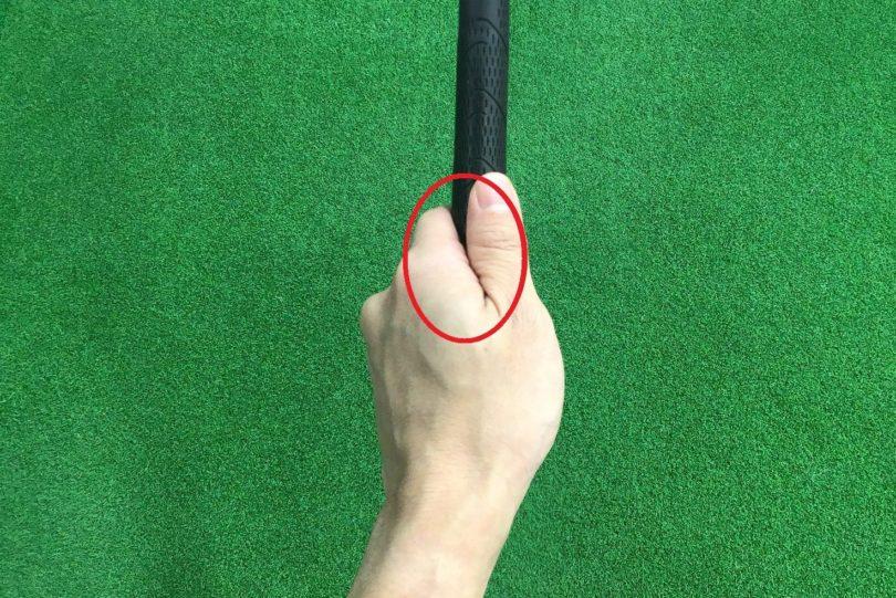 ゴルフ 左手グリップ