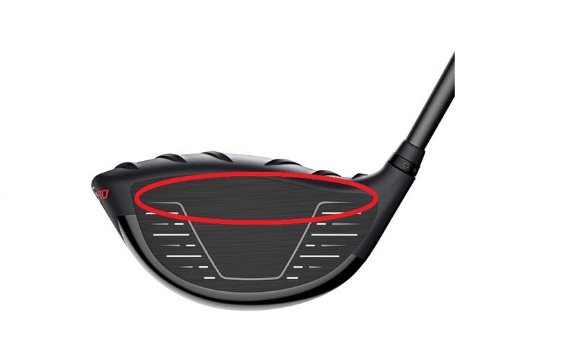 ゴルフ ドライバー最上部が打点
