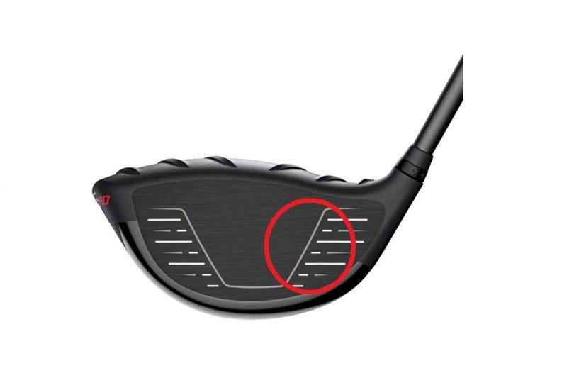 ゴルフ ドライバーのヒールが打点