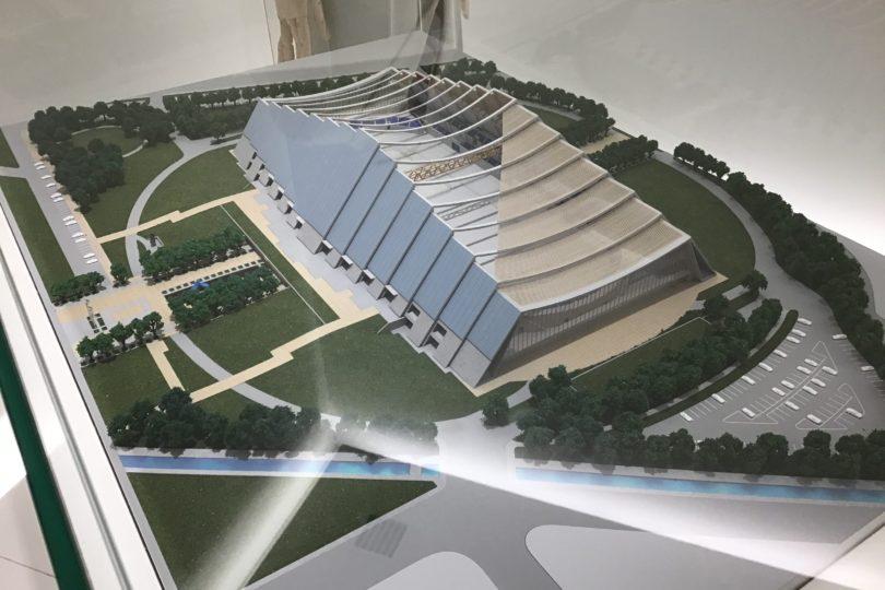 日本オリンピックミュージアム 1998年長野大会 Mウェーブの模型