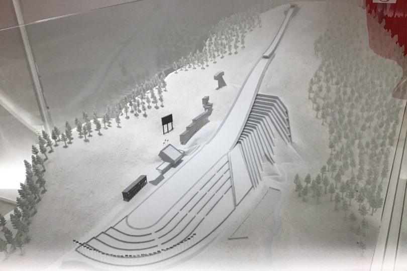 日本オリンピックミュージアム 大倉山ジャンプ競技場の模型