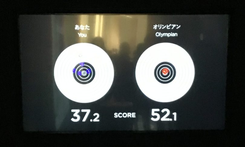 日本オリンピックミュージアム 射撃 オリンピアンとの比較