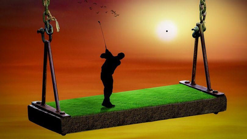 ゴルフスイング ブランコ 遠心力
